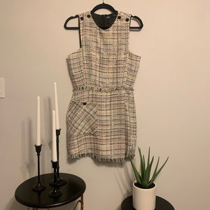 Tweed Buttoned Romper from Zara